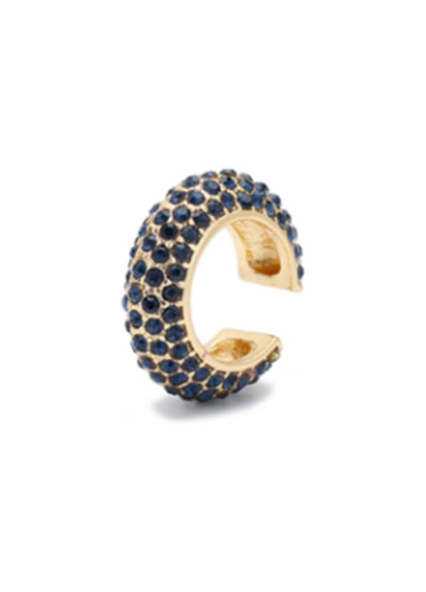 Gold Plated Max Ear Cuffs - Navy - Front