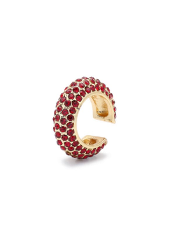 Gold Plated Max Ear Cuffs - Red - Front