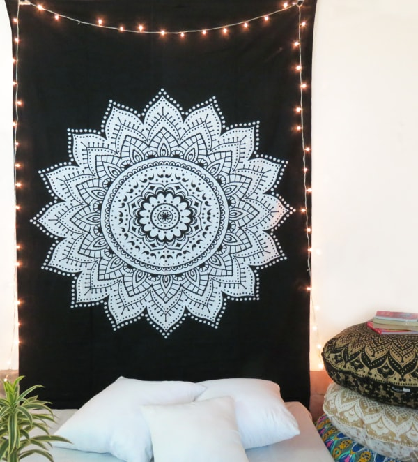 Black And White Twin Tapestry