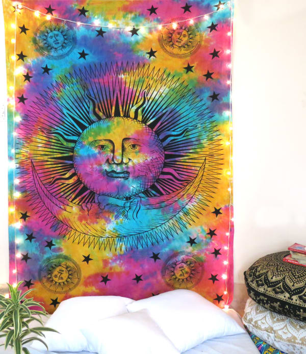 Multicolor Twin Tapestry