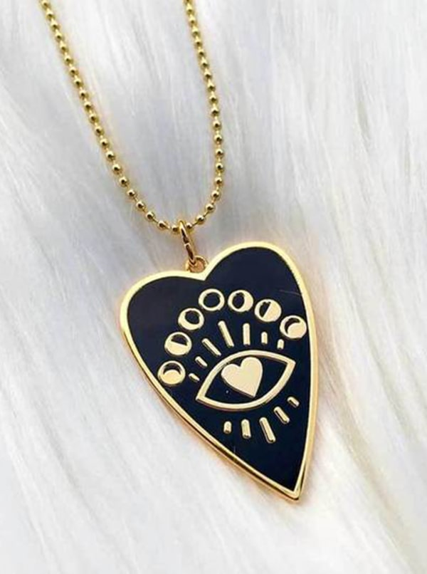 Gold Plated - Full Heart Necklace