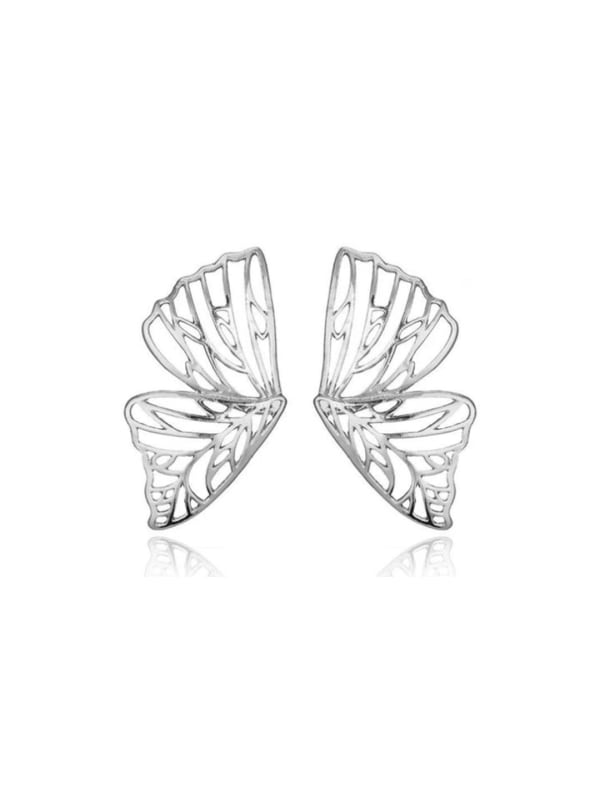 Butterfly Earrings - Silver - Front