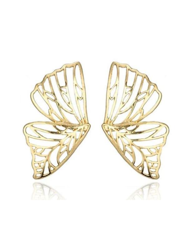 Butterfly Earrings - Gold - Front