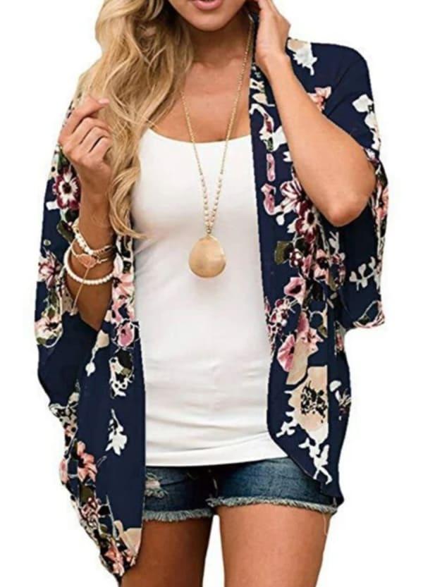 Summer Kimono - Navy - Front