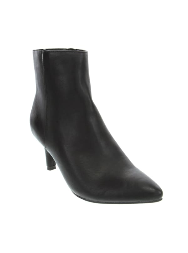 Tiny High Heel Ankle Boots - Black Smooth - Front