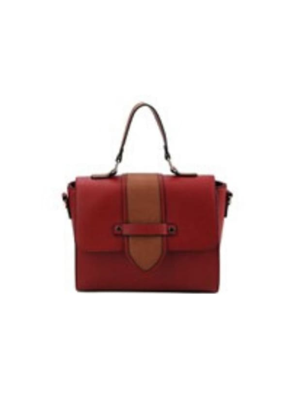 Laura Vegan Leather Crossbody - Red - Front