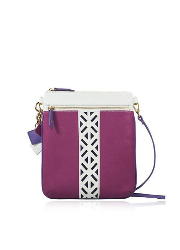 Lily Leather Crossbody - Sea Salt White / Watermelon - Front