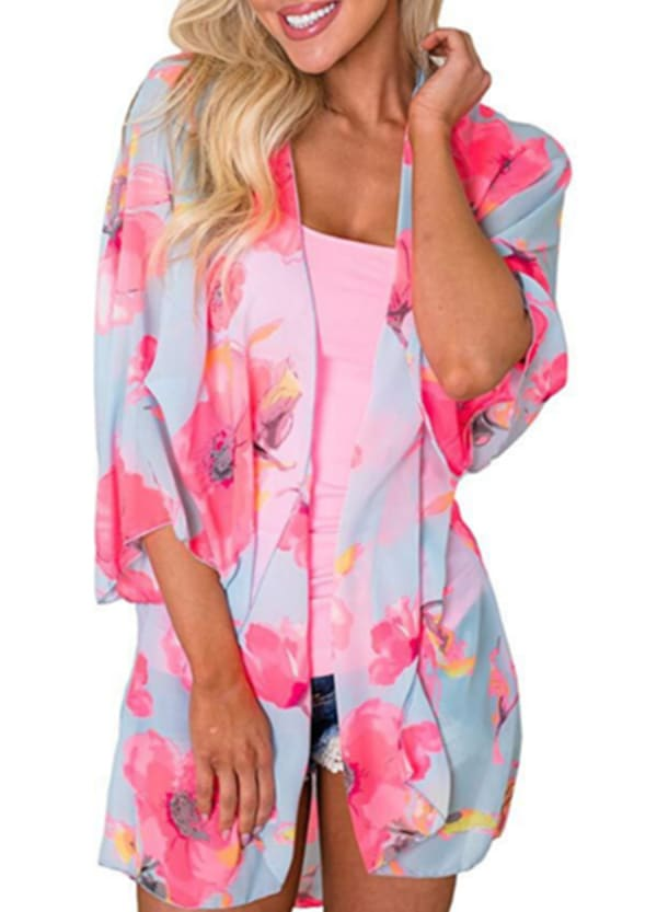 Flamingo Kimono - Plus