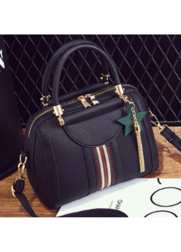 Sally Shoulder Bag - Black - Front