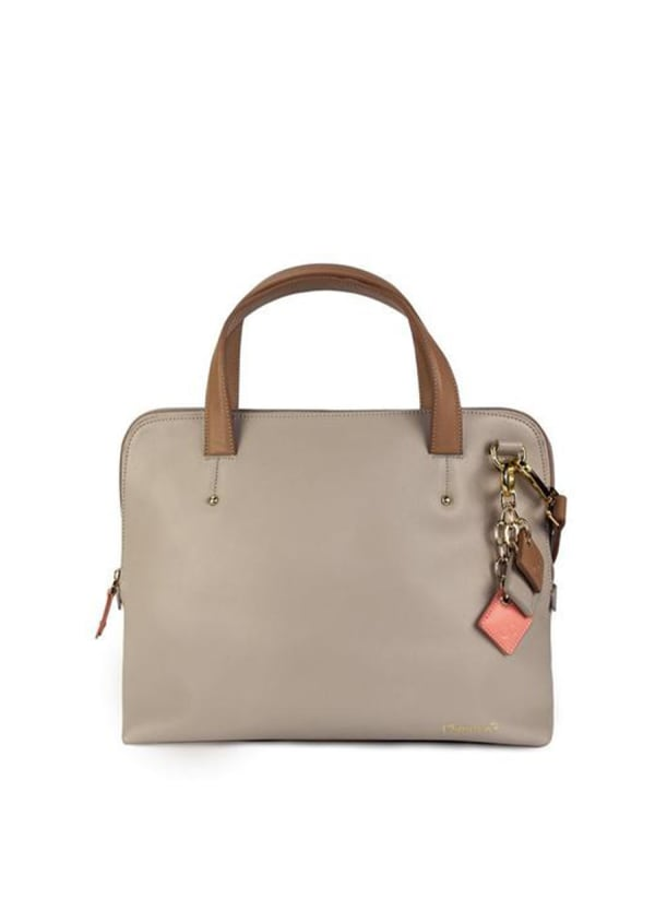 Elisa Leather Handbag -Tan - Front