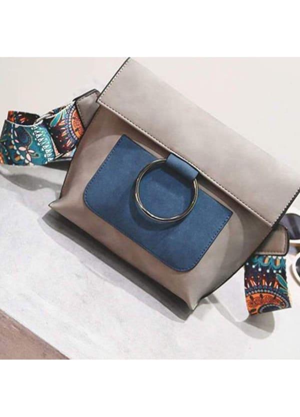 Valerie Cross Body Handbag - Blue - Front