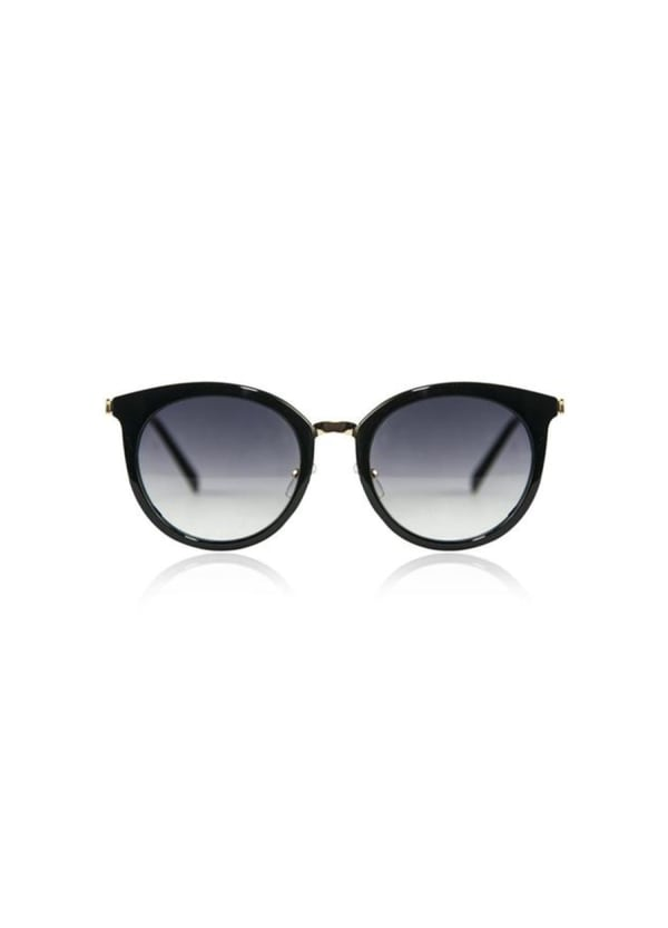 Flirty Sunglasses with Case - Black - Front