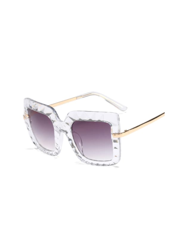 Confident Sunglasses With Case - Clear - Front
