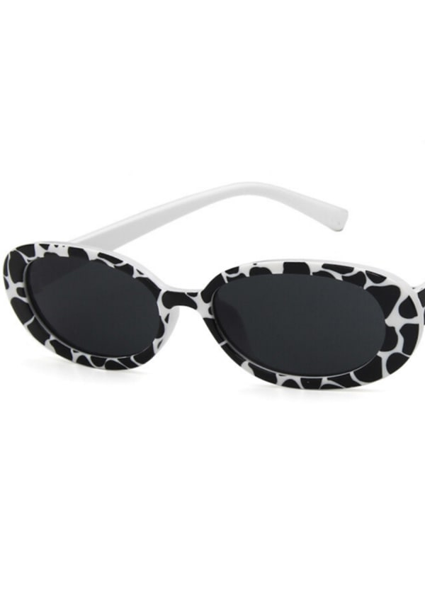 Perky Sunglasses with Case - Black / White - Front