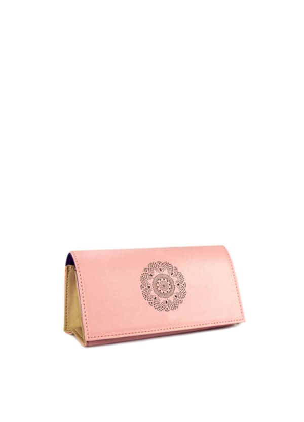 Looking Good Leather Sunglasses Case - Rose - Front