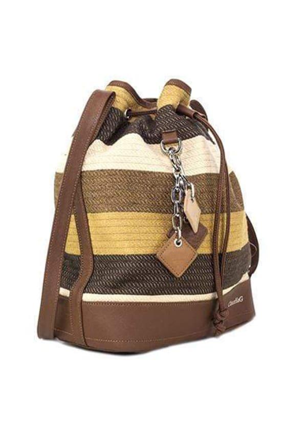 Lola Pull Bag - Mustard - Front