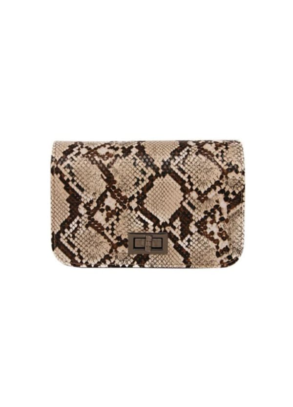 Alice Clutch - Tan - Front