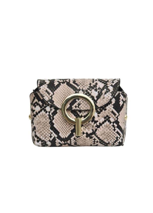 Python Belt Bag - Pink - Front
