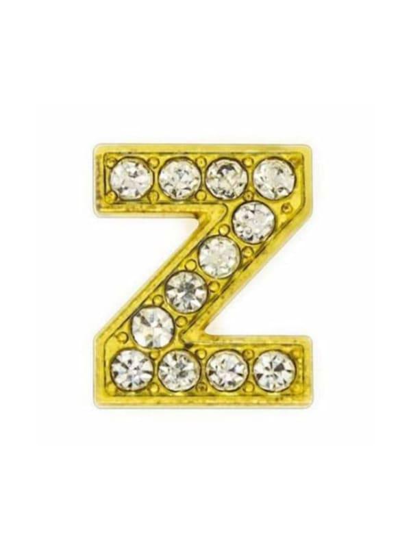 "Pave Letter ""Z"" - Gold Charm"