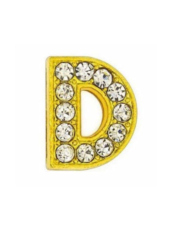 "Pave Letter ""D"" - Gold Charm"