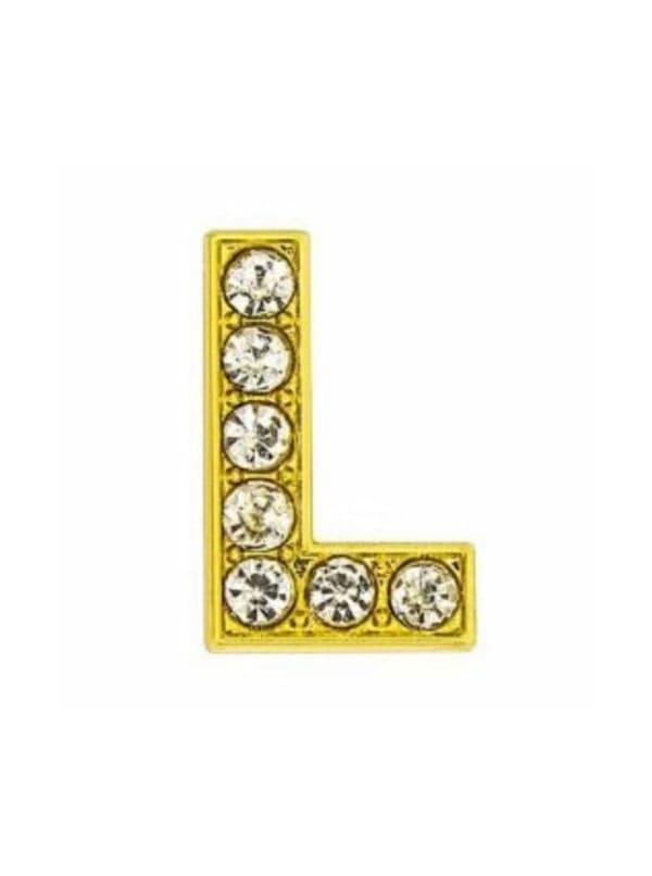 Pave Letter L - Gold Charm