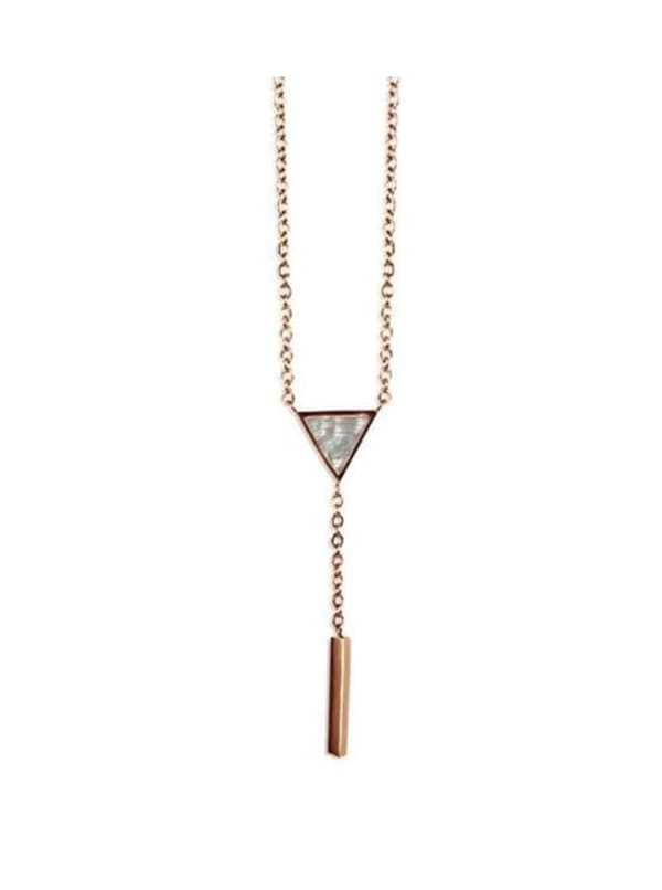 Tyra Necklace - Rose Gold - Front