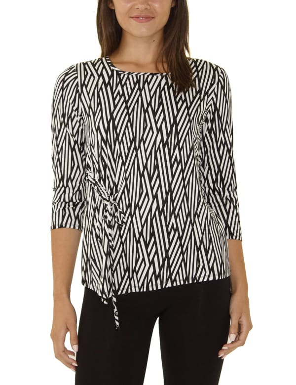Elbow Sleeve With Drawstring Pullover- Petite