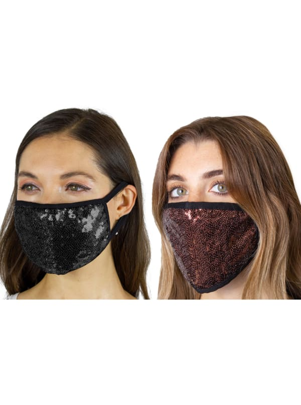 2 Pieces Sequin Face Mask Covering