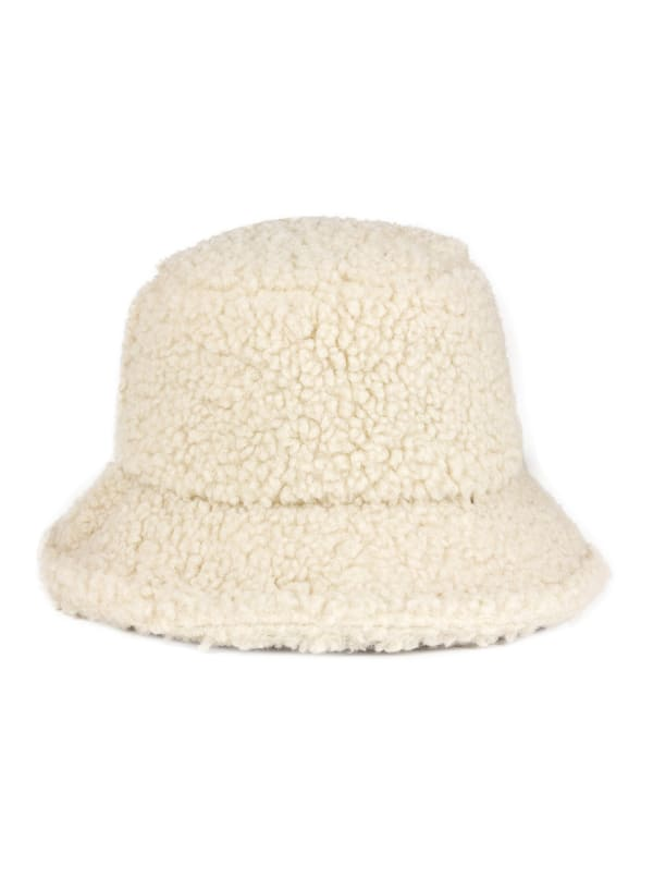 Jones New York Sherpa Bucket Hat - Ivory - Front
