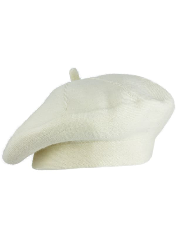 Jones New York JNY Fall Beret Hat - Ivory - Front