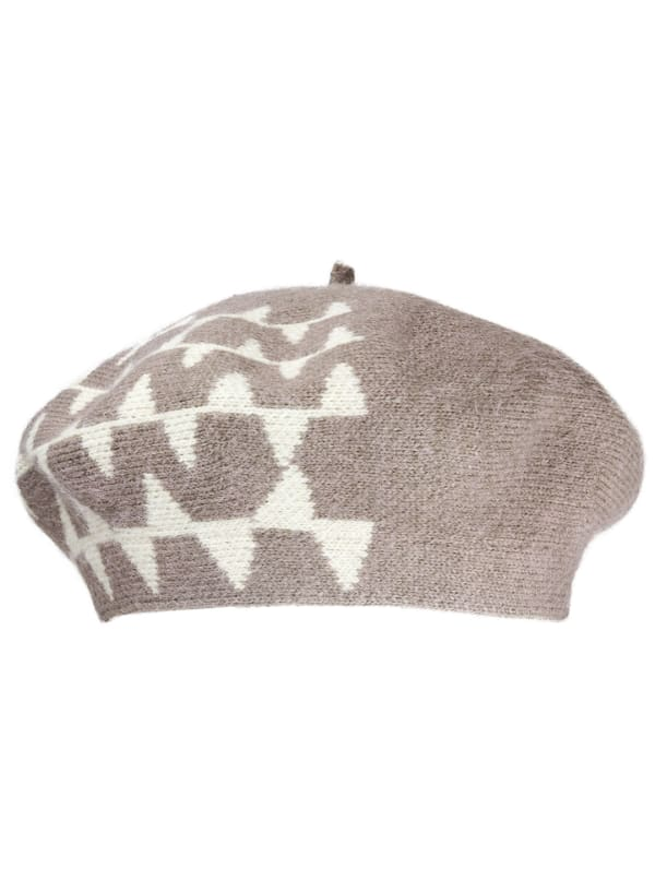 Jones New York Fall Beret Hat - Taupe - Front