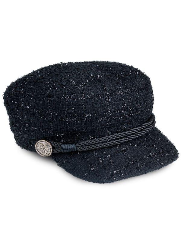Adrienne Vittadini Fall Cadet Hat - Black - Front