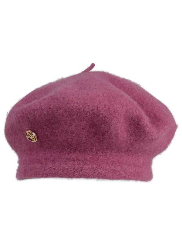 Adrienne Vittadini Wool Beret Hat - Rose - Front