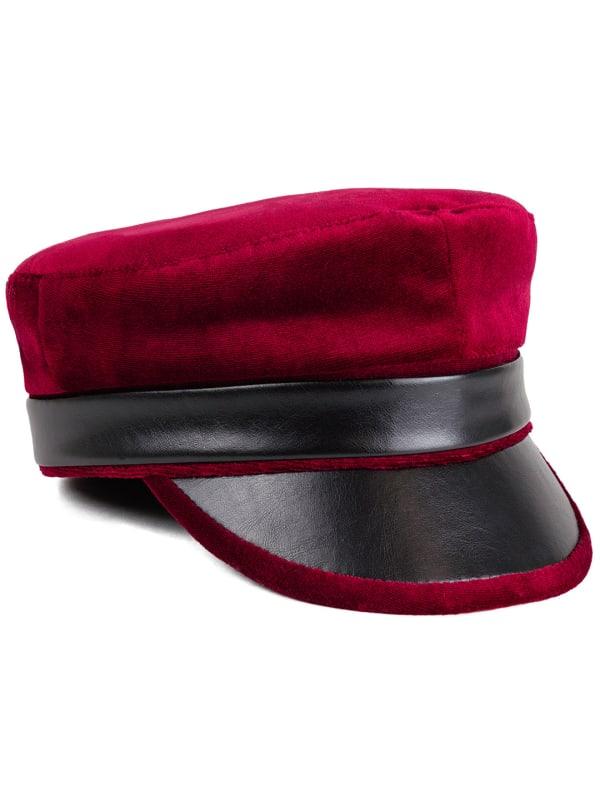 Adrienne Vittadini Fall Velvet Hat - Red - Front