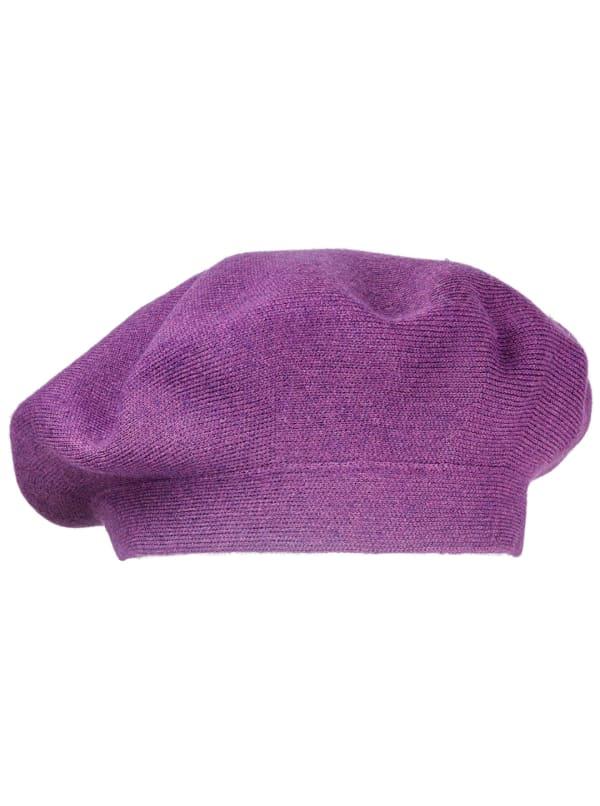 Adrienne Vittadini Fall Beret Hat - Plum - Front