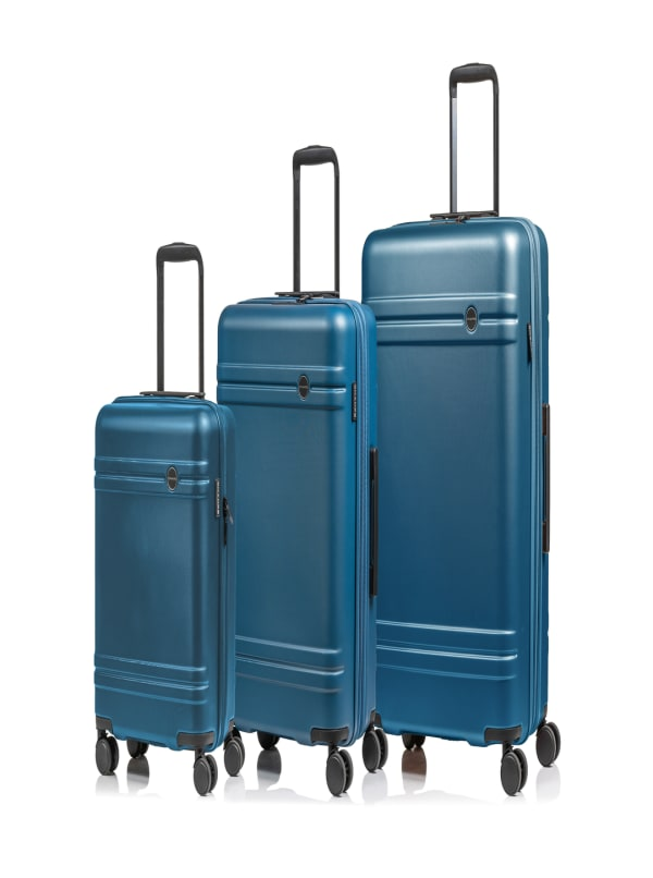 Champs 3-Piece Summit Hardside Luggage Set - Blue - Front