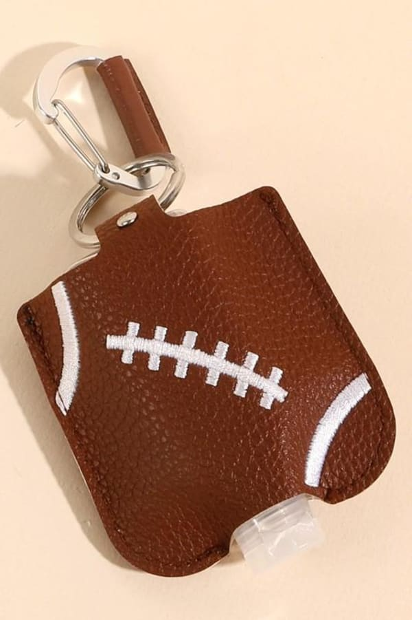 Gold Plated Football Ball Leather Sanitizer Holder