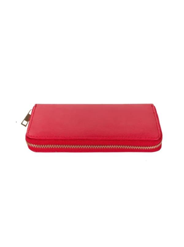 Champs Ladies 3 Way Zip Around Wallet - Red - Front