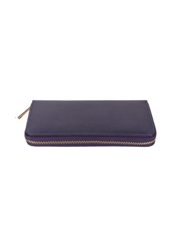 Champs Ladies 3 Way Zip Around Wallet - Purple - Front