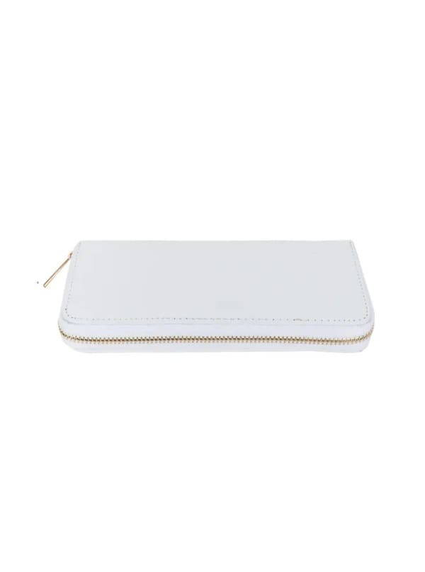 Champs Ladies 3 Way Zip Around Wallet - White - Front