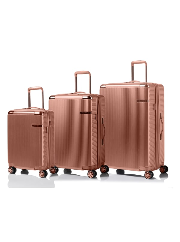 Champs 3-Piece Legacy Hardside Luggage Set - Rose Gold - Front