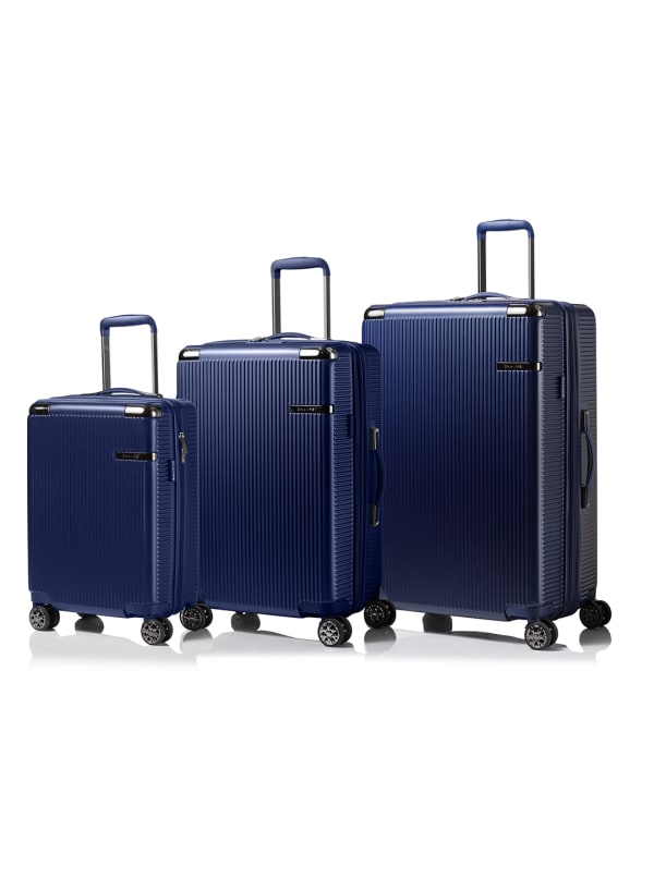 Champs 3-Piece Legacy Hardside Luggage Set - Navy Blue - Front