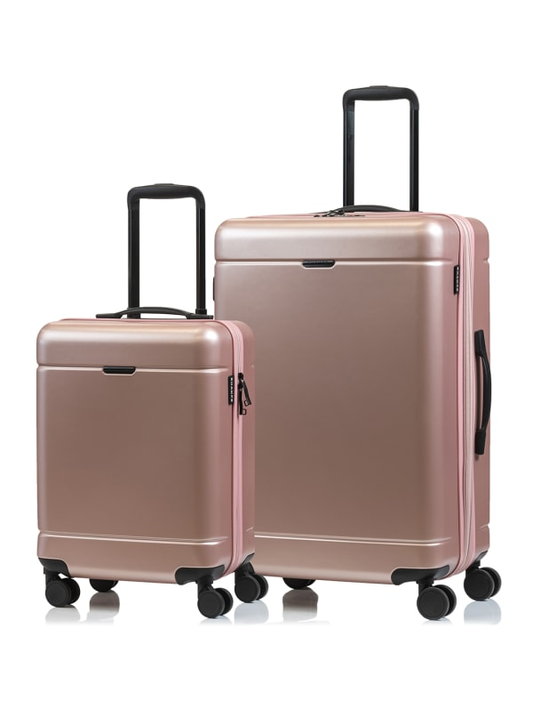 Champs 2-Piece Norway Hardside Luggage Set - Rose Gold - Front