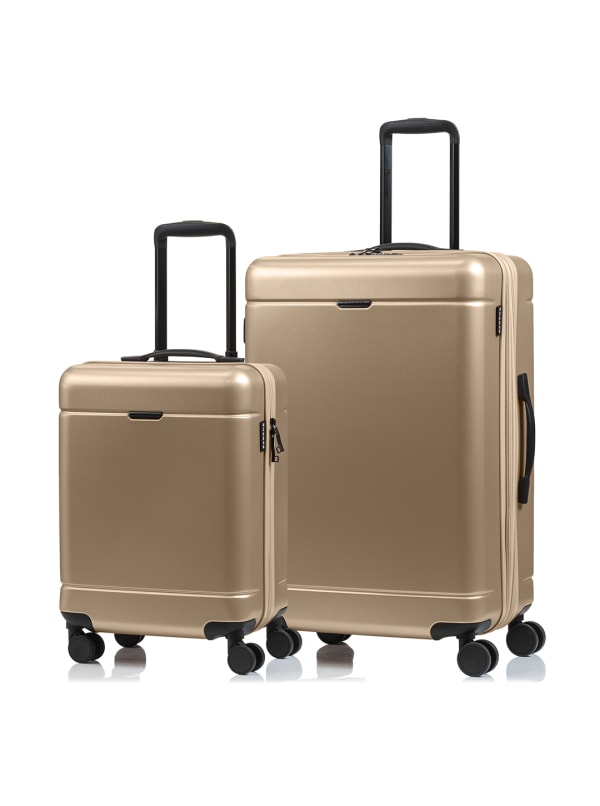 Champs 2-Piece Norway Hardside Luggage Set -Champagne - Front