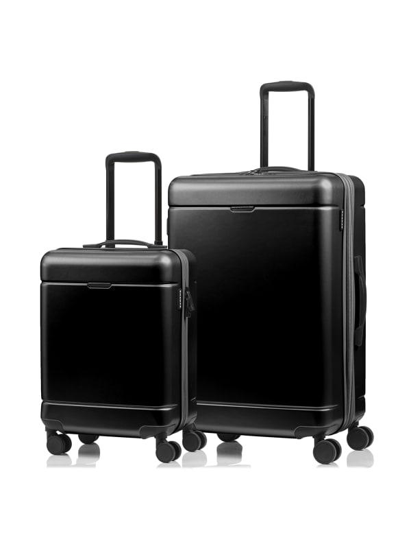 Champs 2-Piece Norway Hardside Luggage Set - Black - Front