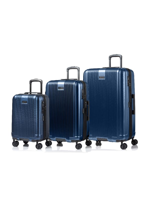 Champs 3-Piece Marquis Hardside Luggage Set - Blue - Front