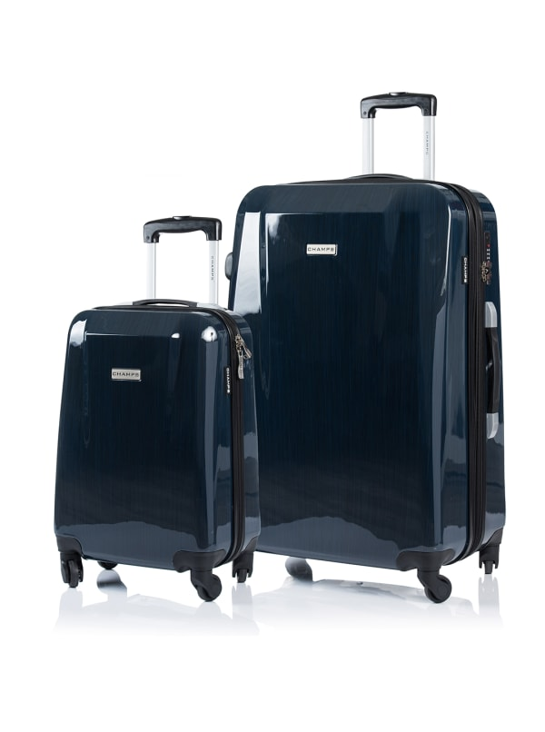 Champs 2-Piece Escape Hardside Luggage Set - Navy - Front