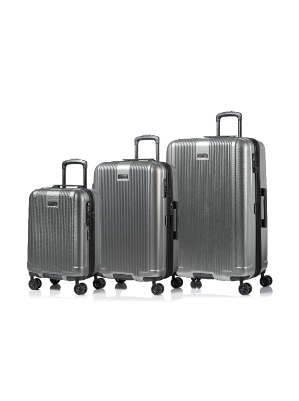 Champs 3-Piece Marquis Hardside Luggage Set - Grey - Front