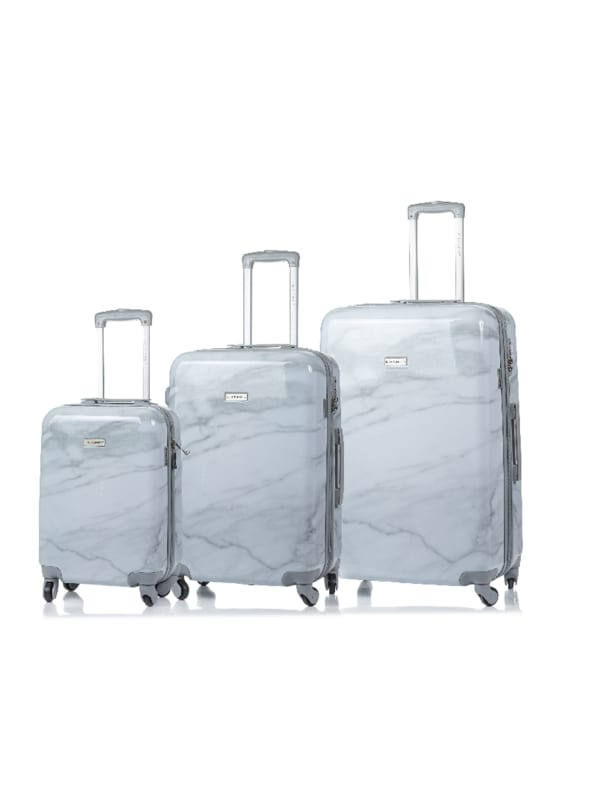 Champs 3-Piece Carrera Hardside Luggage Set - White - Front