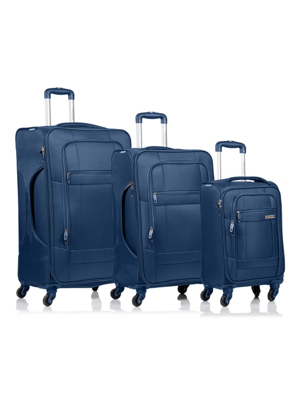Champs 3-Piece Pacific Softside Luggage Set - Navy - Front